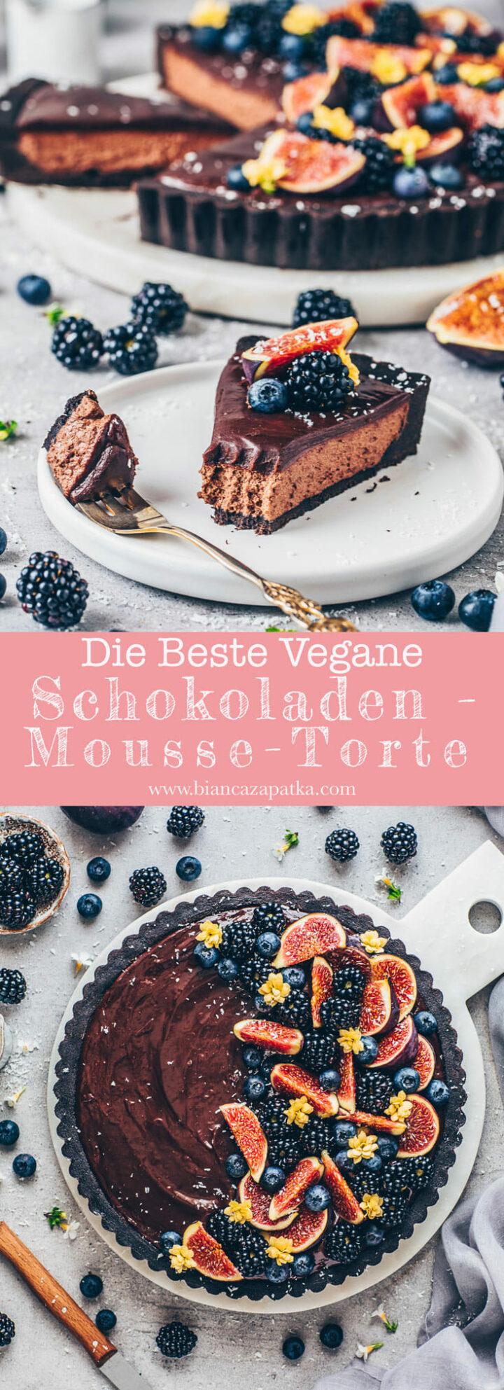 Schokoladen Mousse Torte mit Ganache - Schoko Kuchen