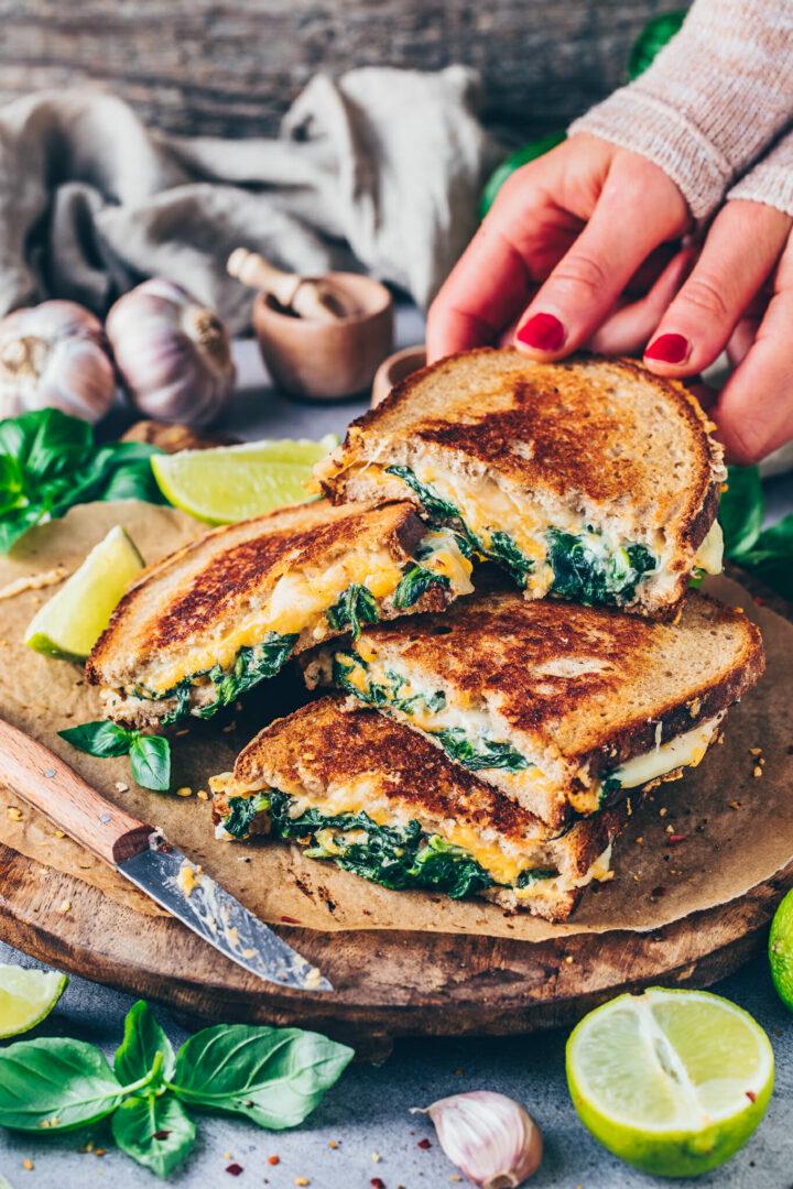 Grilled Cheese Sandwich Rezept Veganes Käse Sandwich