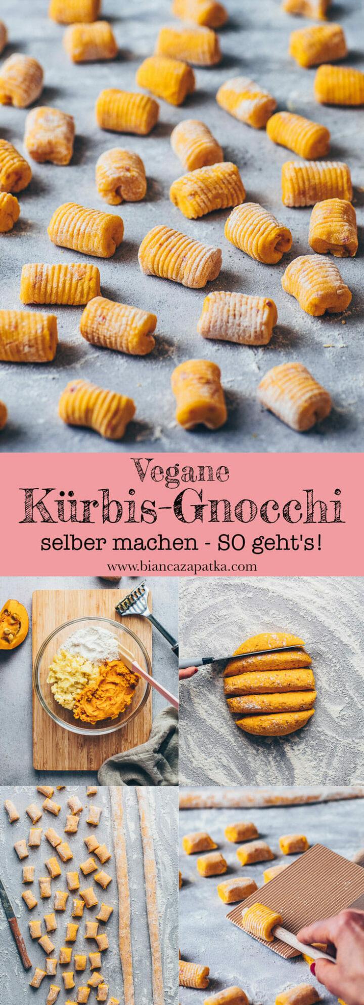 selbstgemachte Gnocchi mit Kuerbis und Kartoffeln vegan