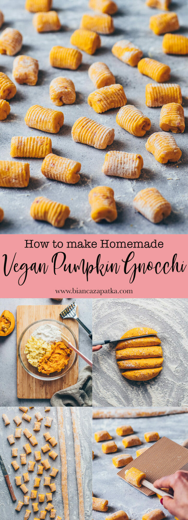 homemade gnocchi from scratch (vegan pumpkin potato dumplings)