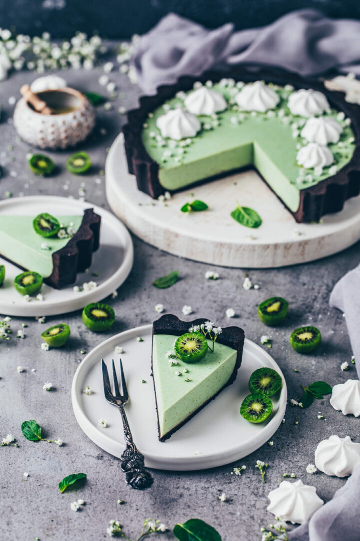 Oreo Cheesecake Matcha Käsekuchen