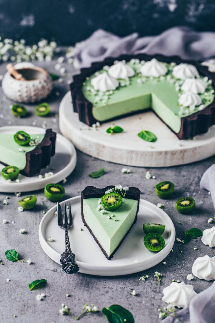 Oreo Matcha Cheesecake Kuchen Tarte
