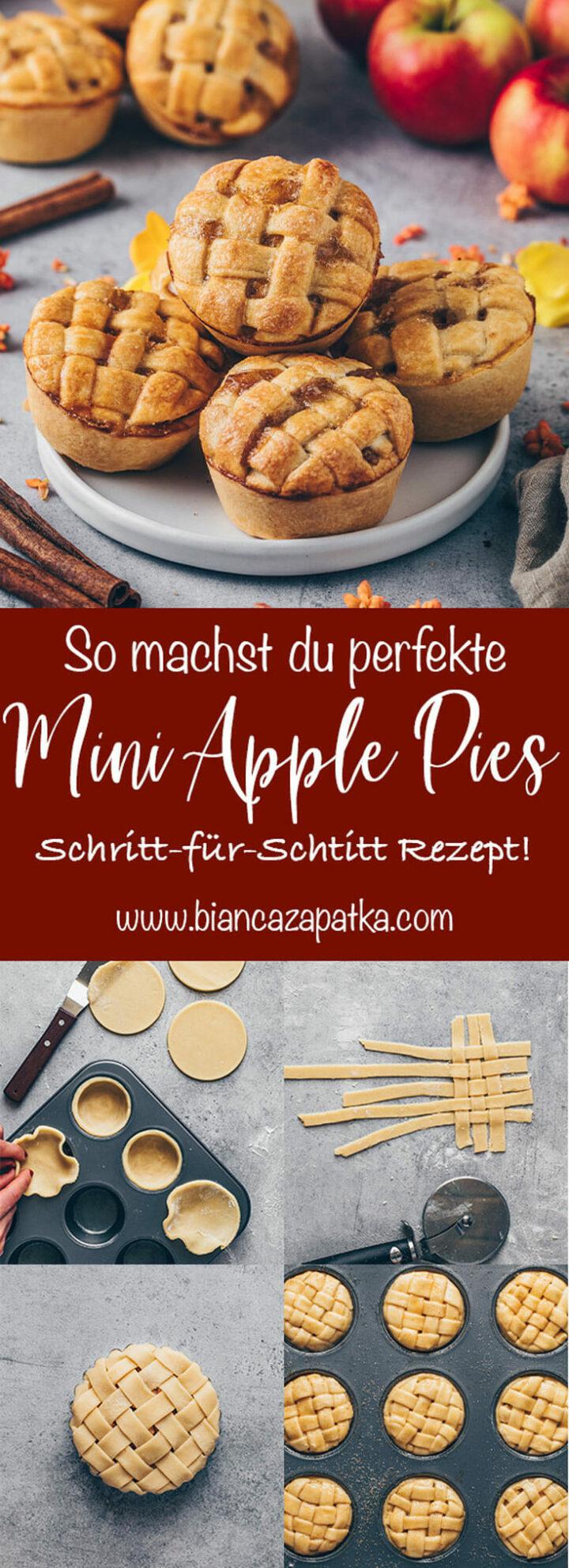 Mini Apple Pies Schritt-für-Schritt Anleitung, Apfel Pie Muffins mit Gitter