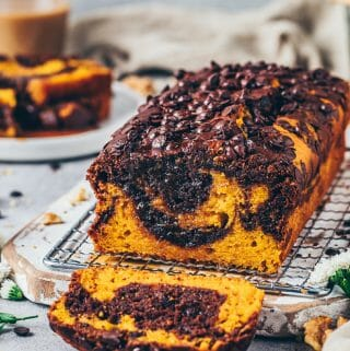 Pumpkin Chocolate Chip Bread (Moist marble Cake Loaf)
