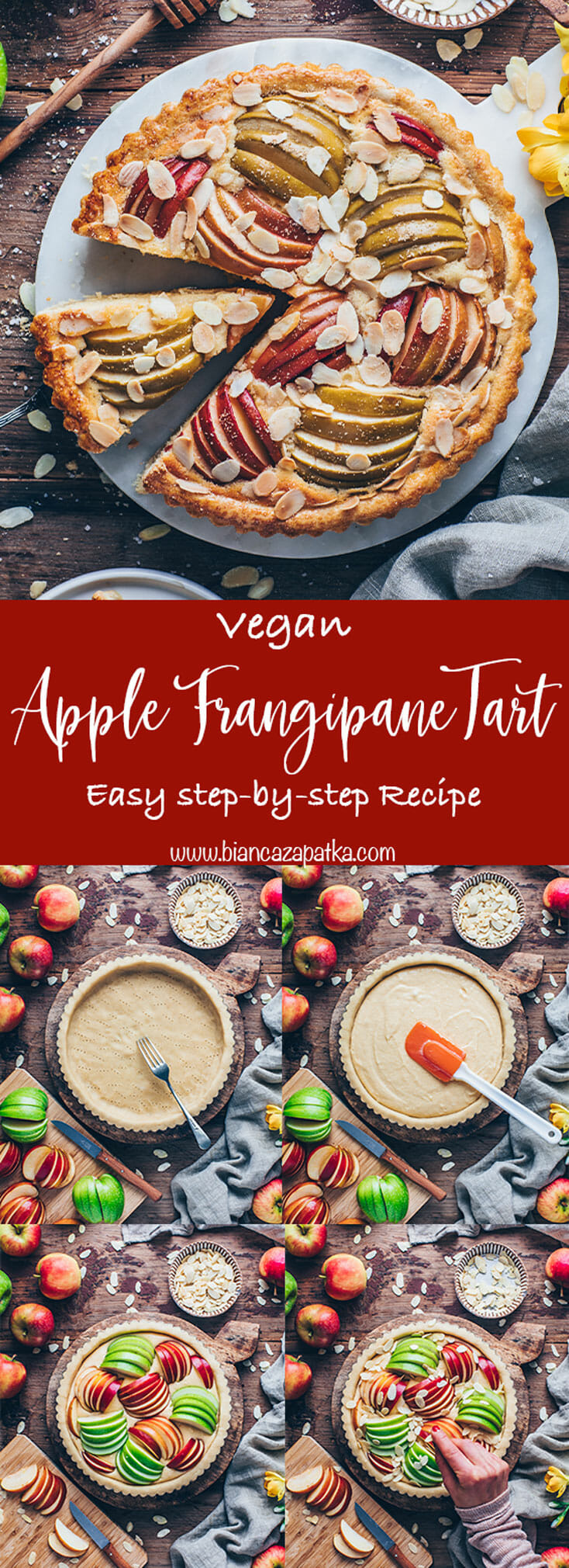 French Apple Frangipane Tart with Almonds Recipe