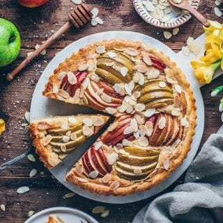 French Apple Frangipane Tart with Almonds