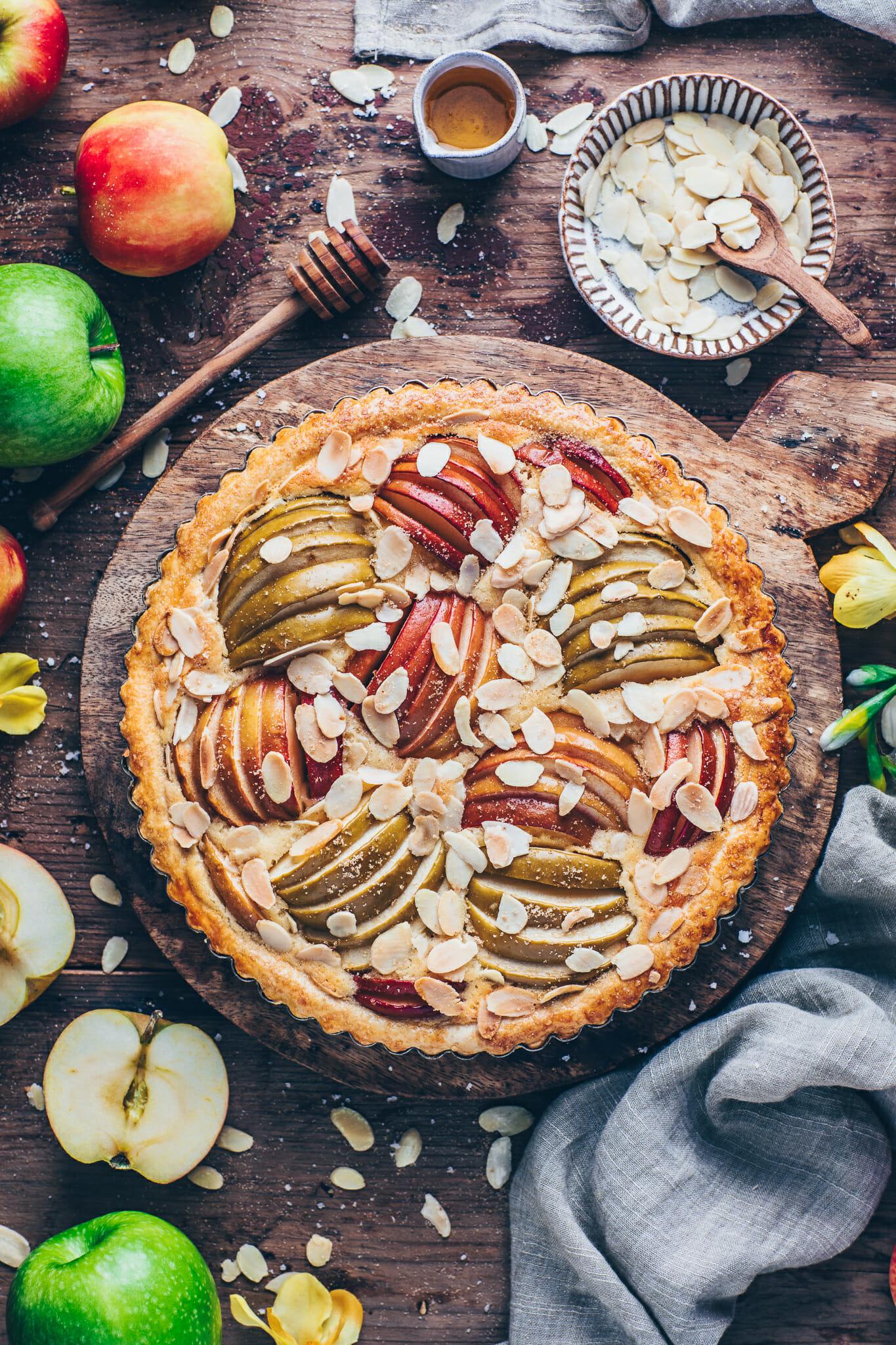 Apple Frangipane Tart (food photography)