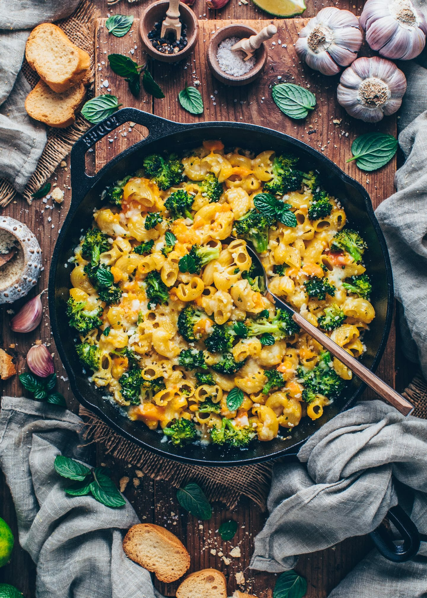 Baked Vegan Mac and Cheese with Broccoli