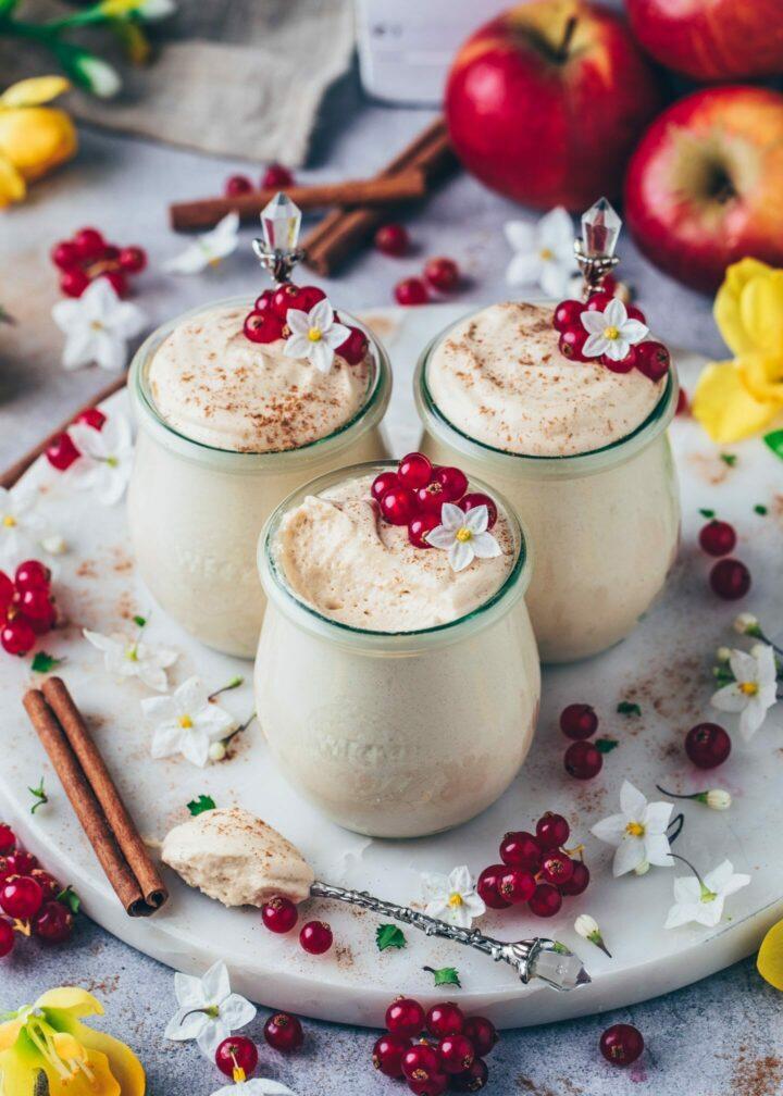 caramel mousse (easy vegan no bake cheesecake dessert)