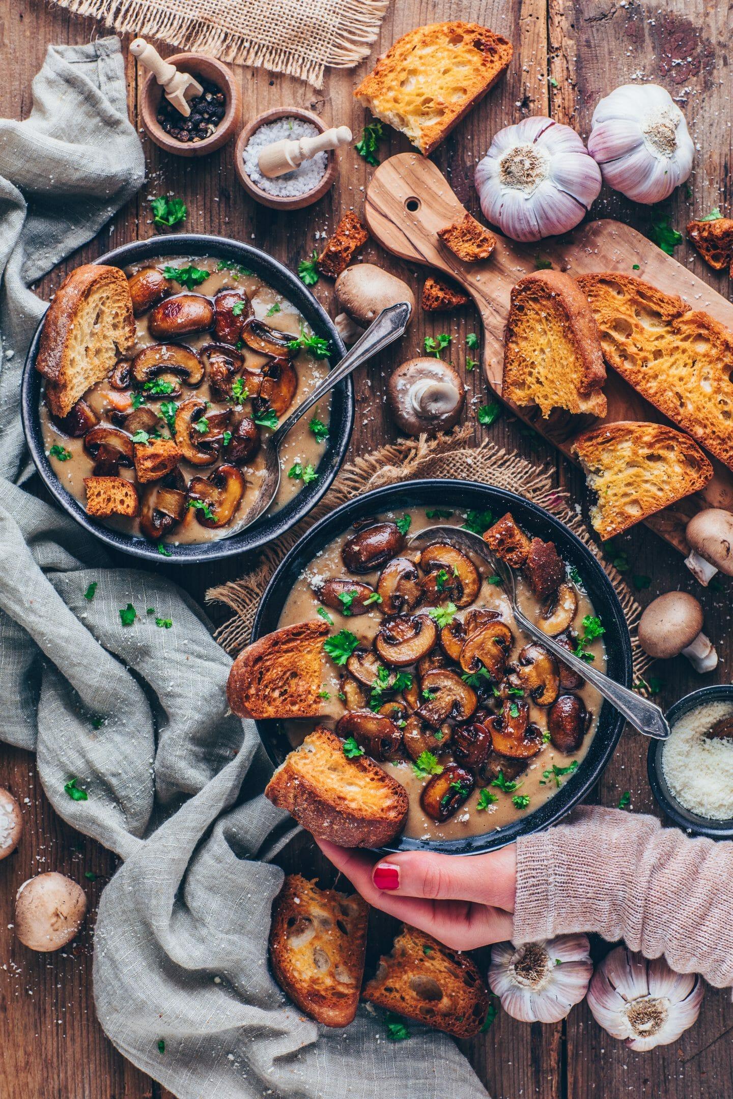 Cream Of Mushroom Soup Vegan Easy Bianca Zapatka Rezepte