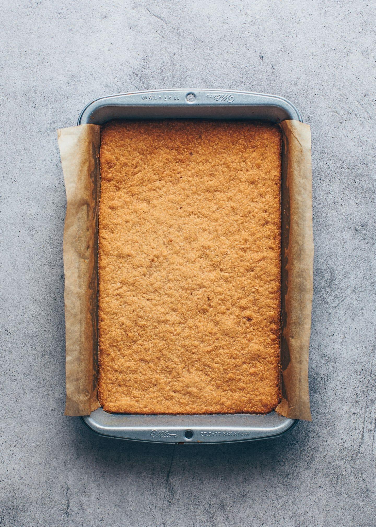 Gebackener Kuchenboden aus Keksen