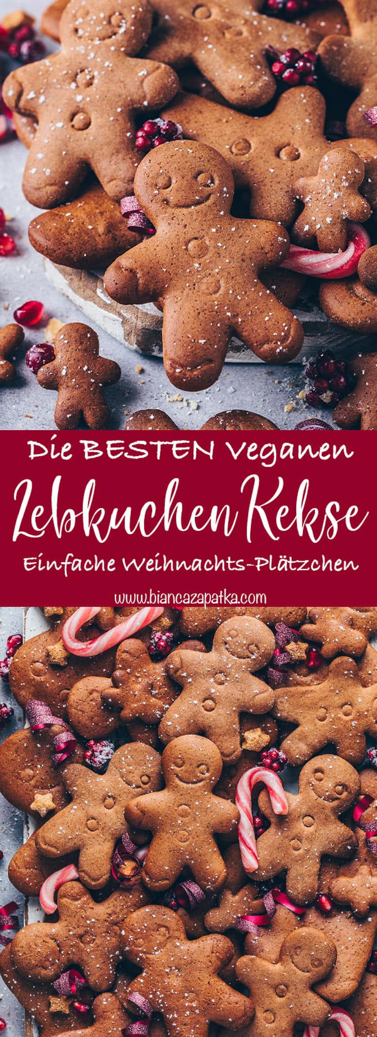 Lebkuchen Plätzchen, Lebkuchenmänner, Weihnachts-Kekse