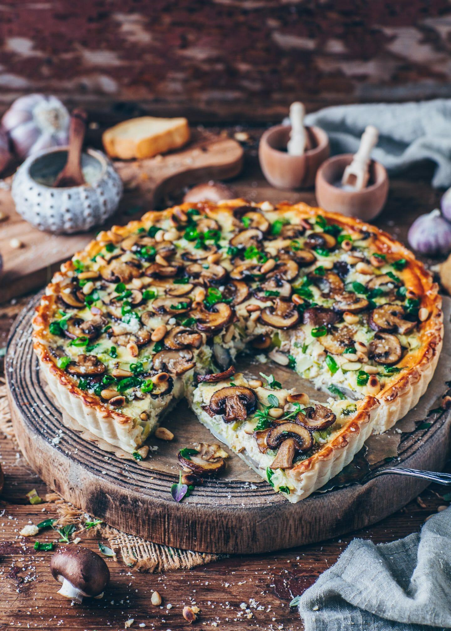 Mushroom and Leek Quiche