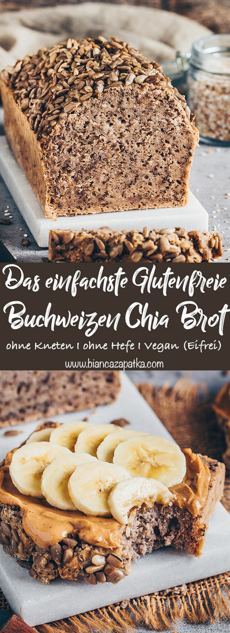 Buchweizen Chia Brot (glutenfrei, vegan, einfach)