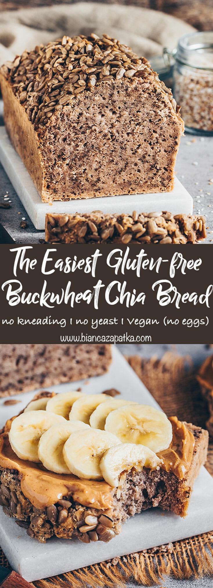 Best buckwheat chia bread (easy gluten-free no-knead bread)