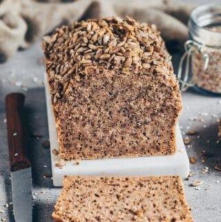 Gluten-free Vegan Buckwheat Chia Bread