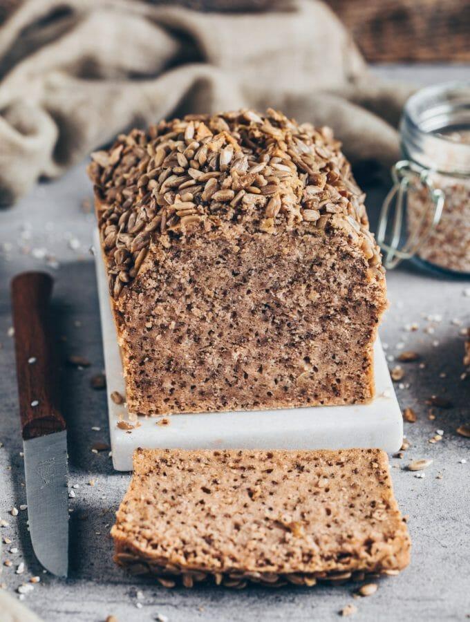 Glutenfreies Buchweizen-Brot ohne Kneten (vegan, einfach, ohne Hefe)