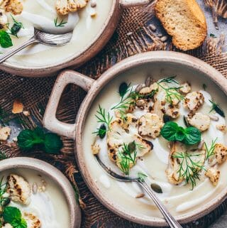 creamy vegan cauliflower soup