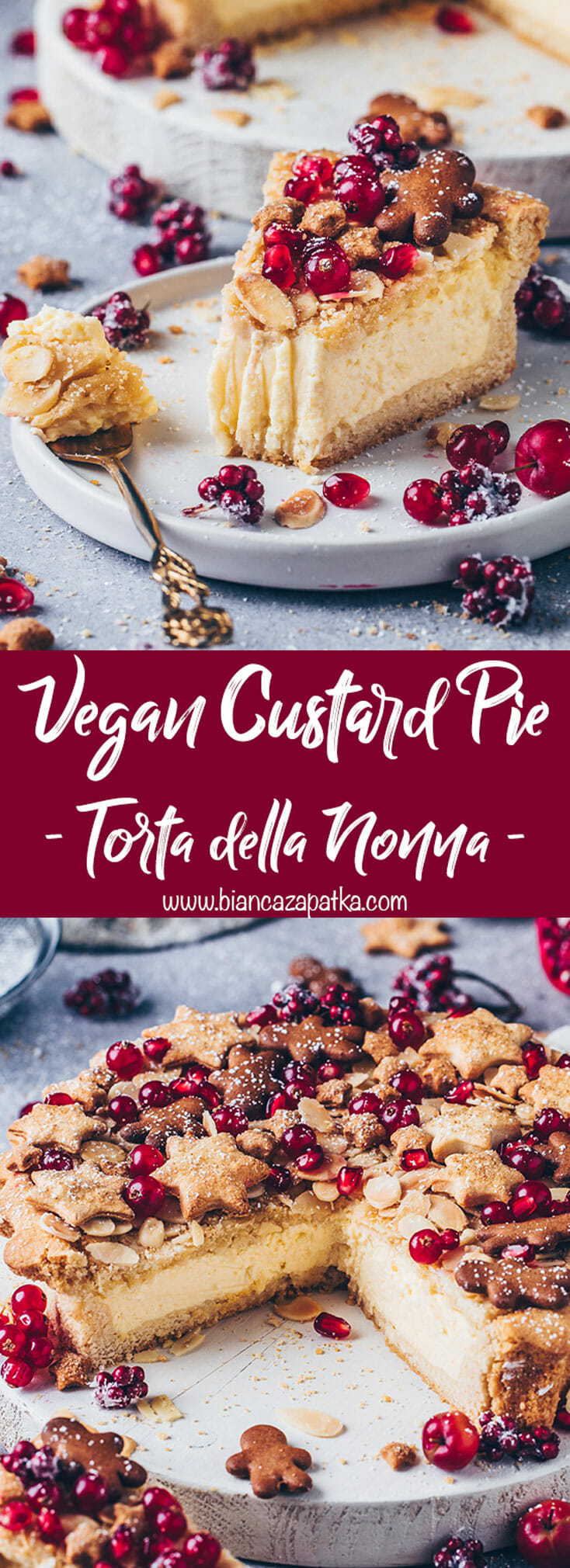 Custard Cream Pie Tart with vegan Cookies