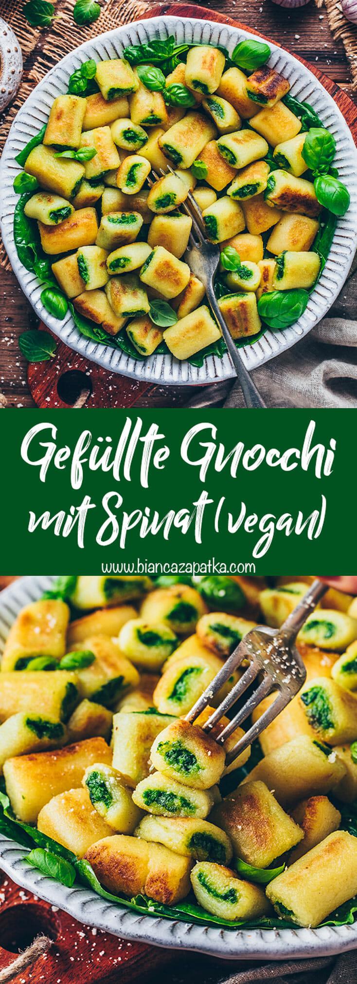 Gefüllte Gnocchi (Mini Kartoffel-Knödel) mit Spinat Pesto