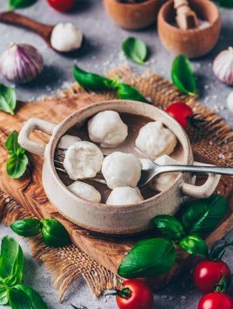 Vegane Mini Mozzarella Bällchen