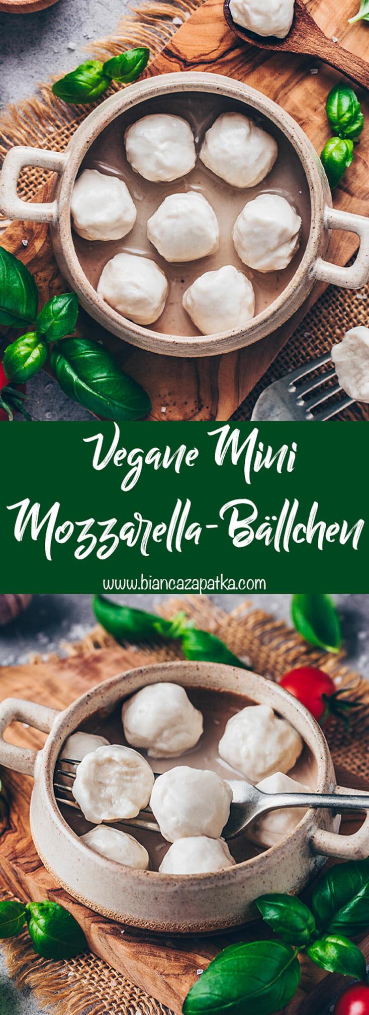 Vegane Mini Mozzarella (Cashew Käse Bällchen)