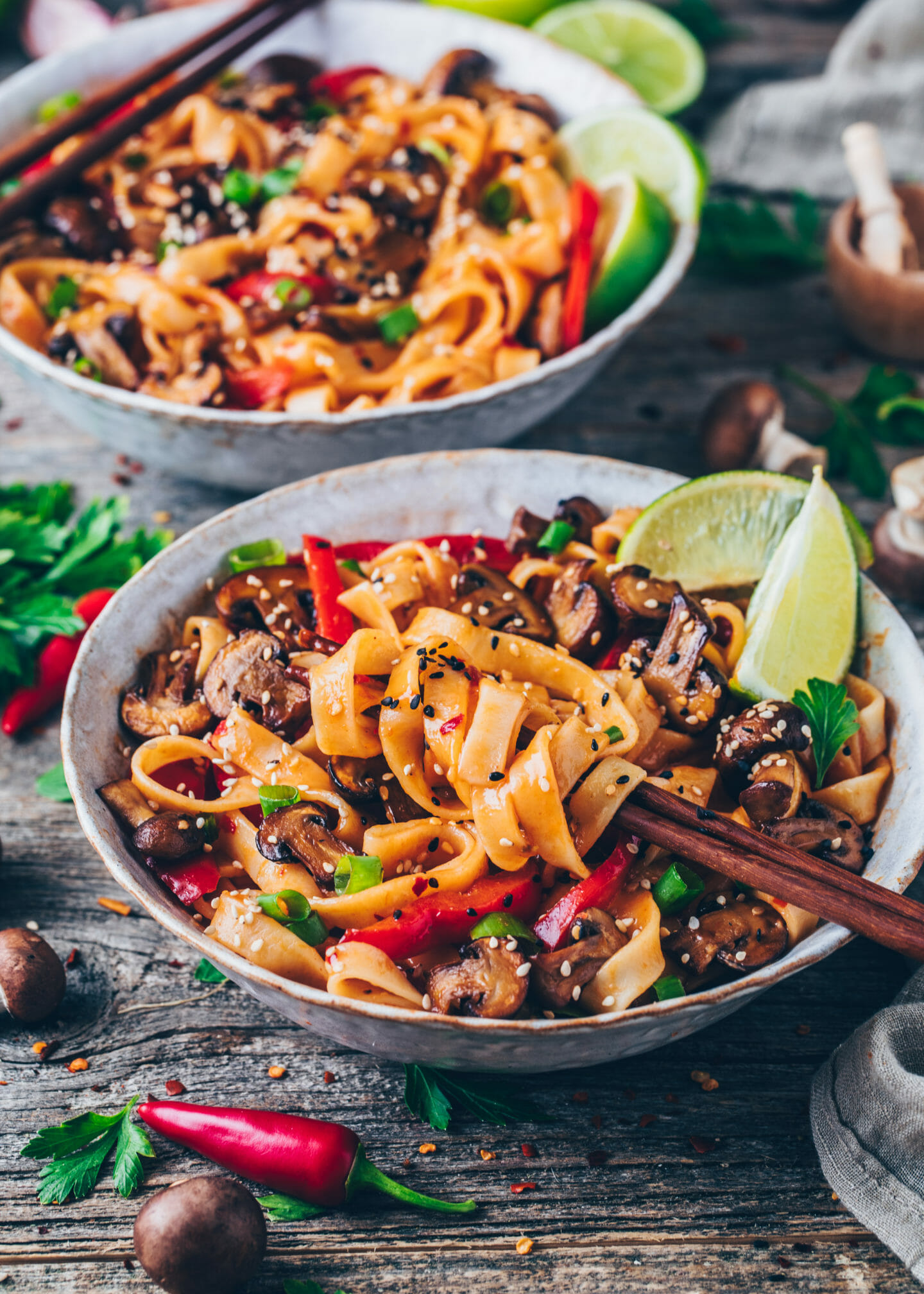 Asian Noodles (Thai vegetable Stir-fry)