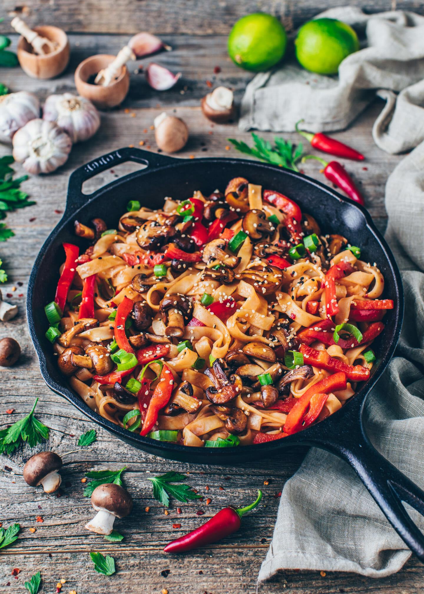 Asian Noodles vegetable Stir-fry
