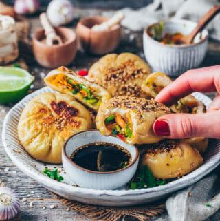 Sheng Jian Bao Buns (vegan dumplings)