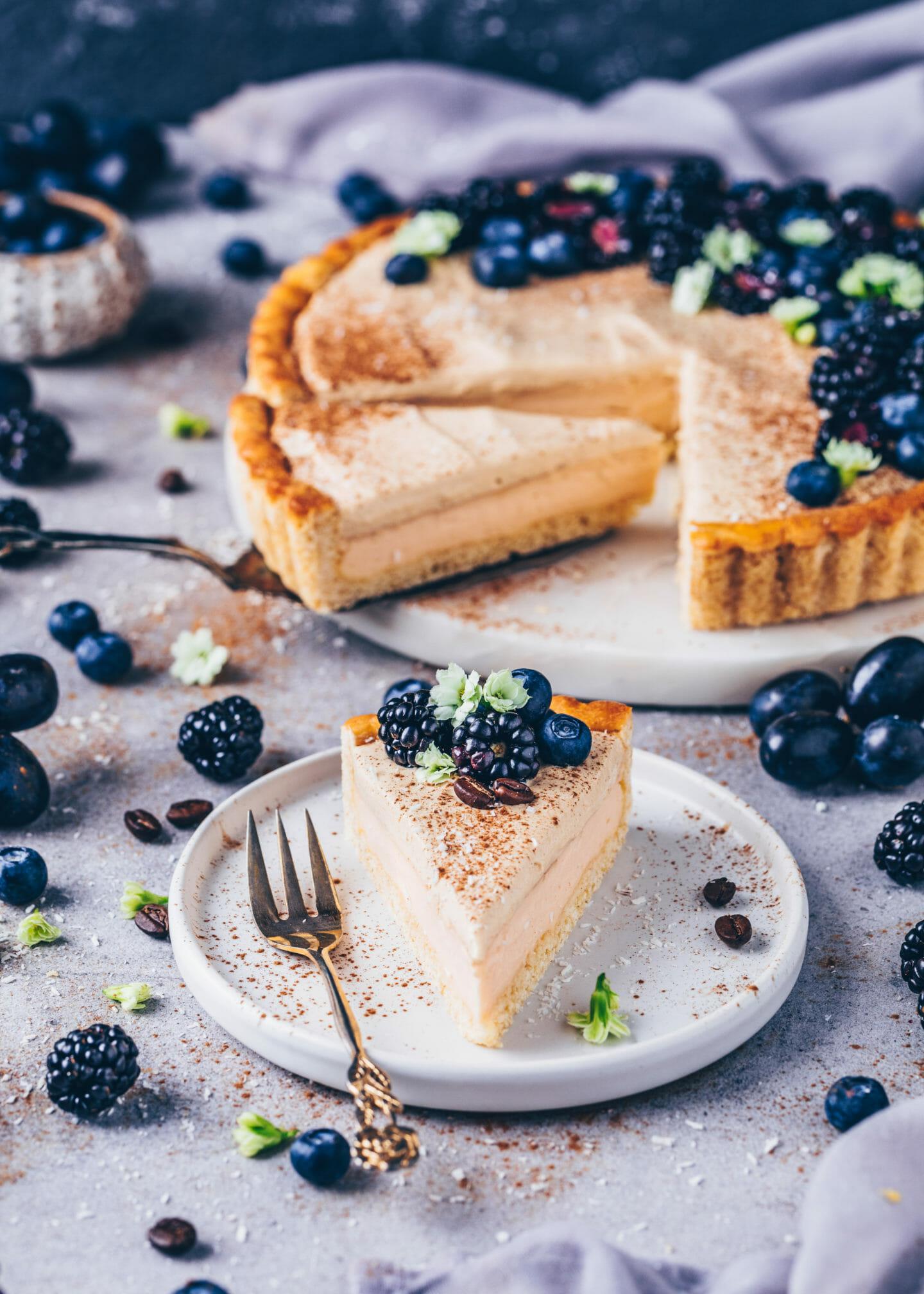 Vegan Milk Tart with Coffee Mousse (Melktert)