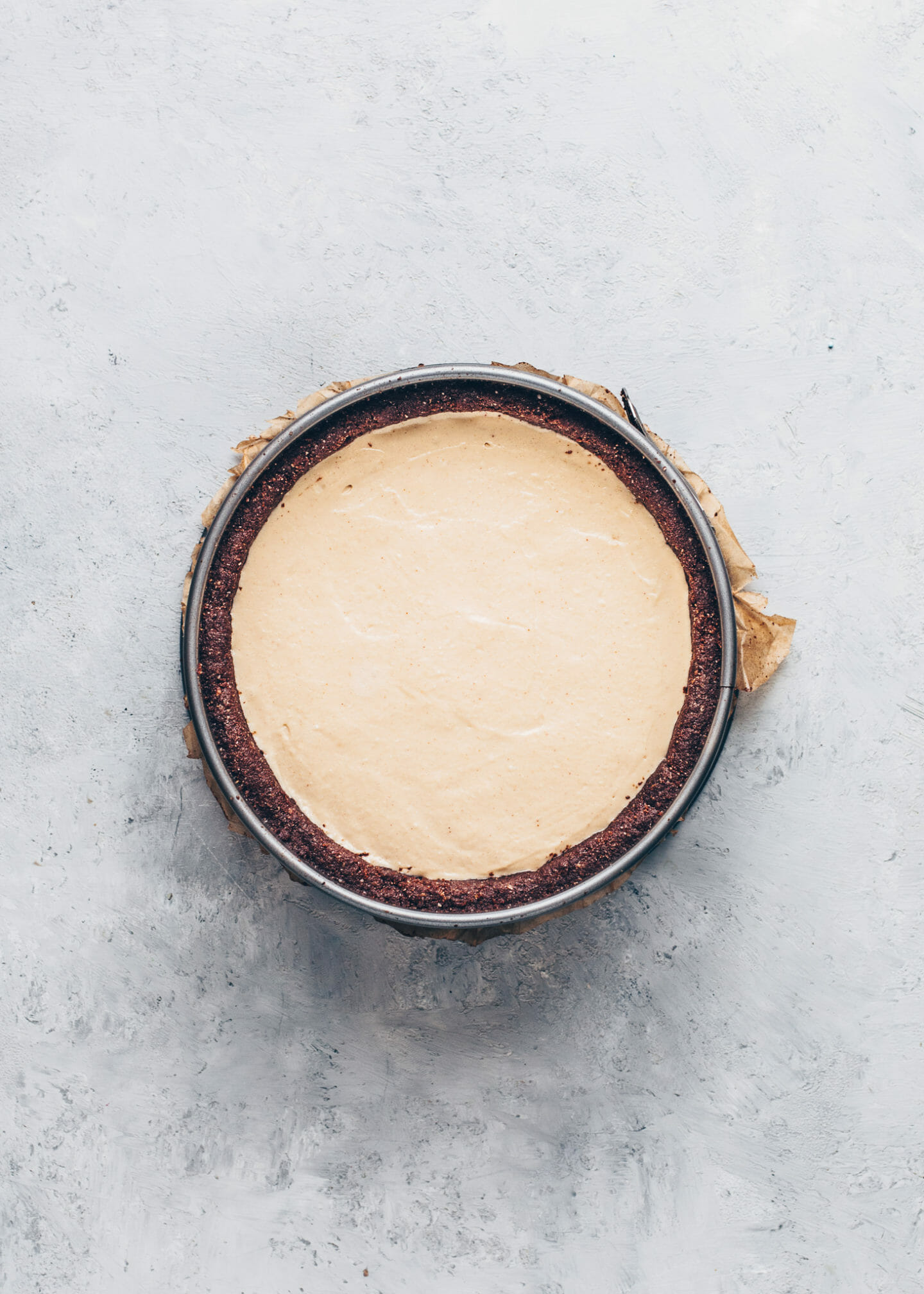 Peanut Butter Mousse Pie with gluten-free no-bake Chocolate Crust