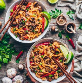Asia-Nudeln mit Gemüse (Thai China Nudelpfanne)