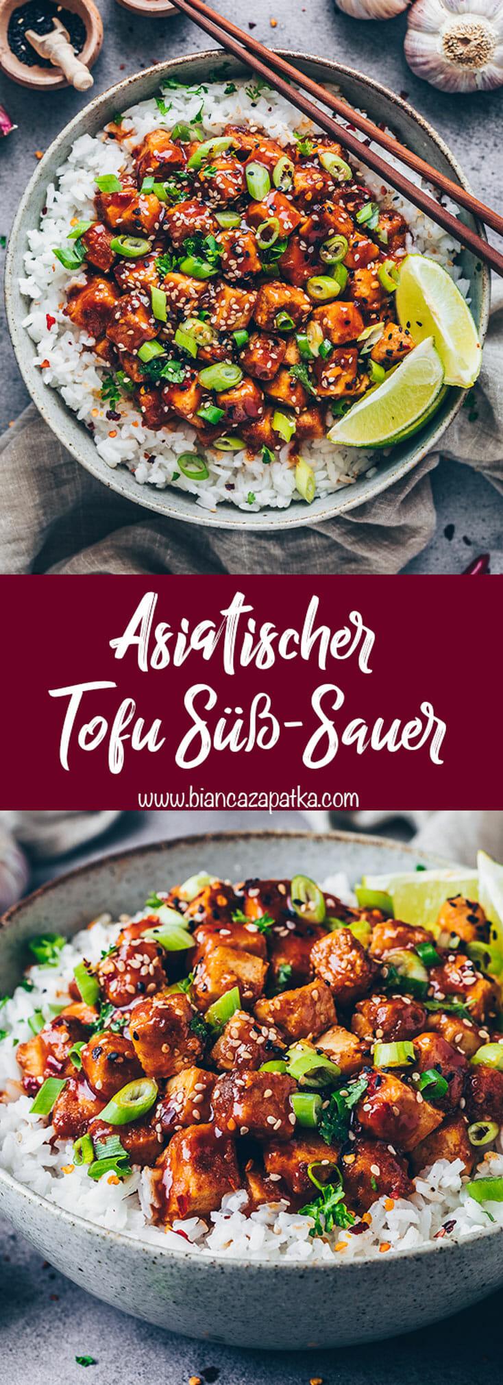 Asiatischer Tofu mit Süß-Sauer-Soße