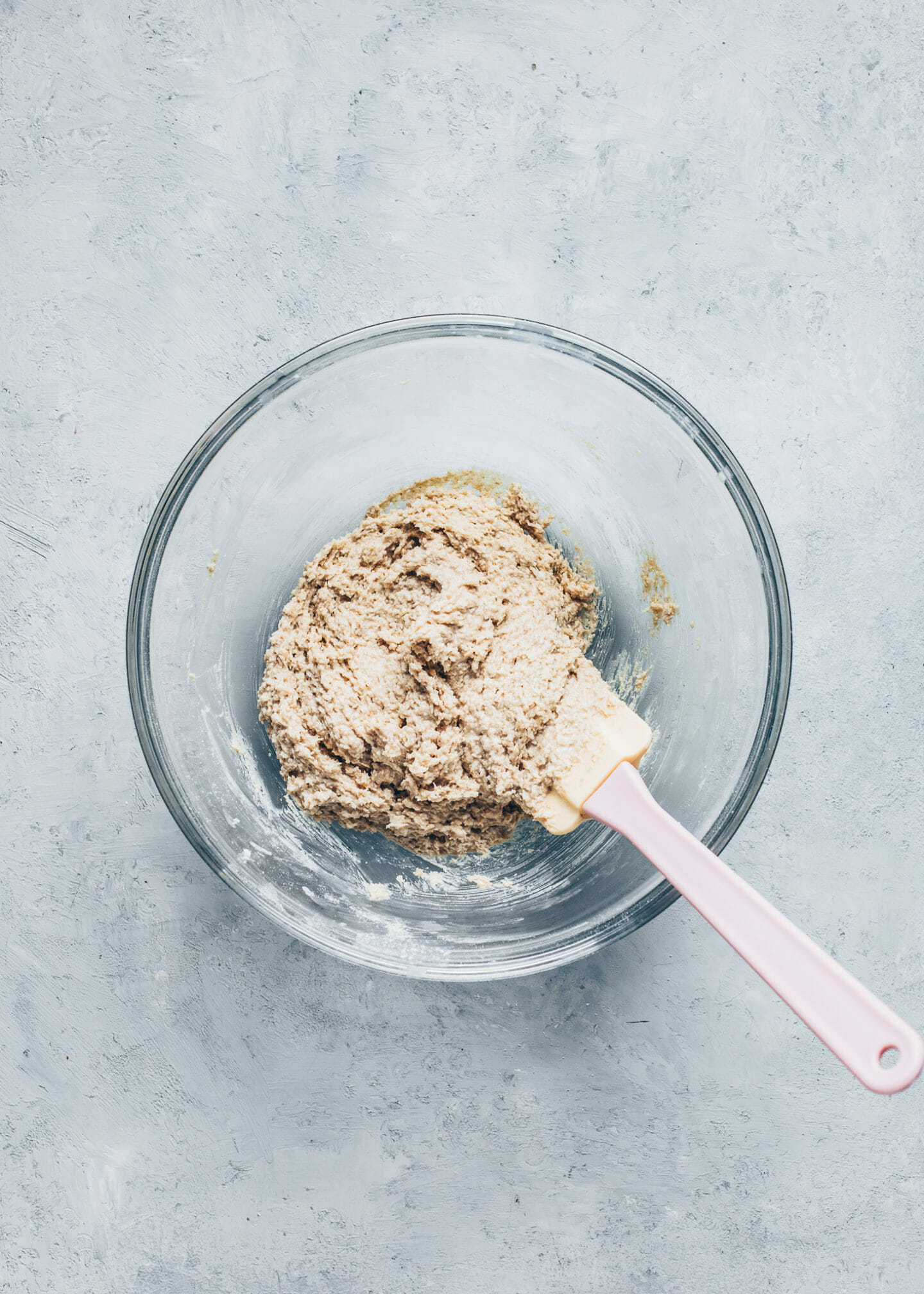 Oat coconut dough for vegan Twix biscuit base
