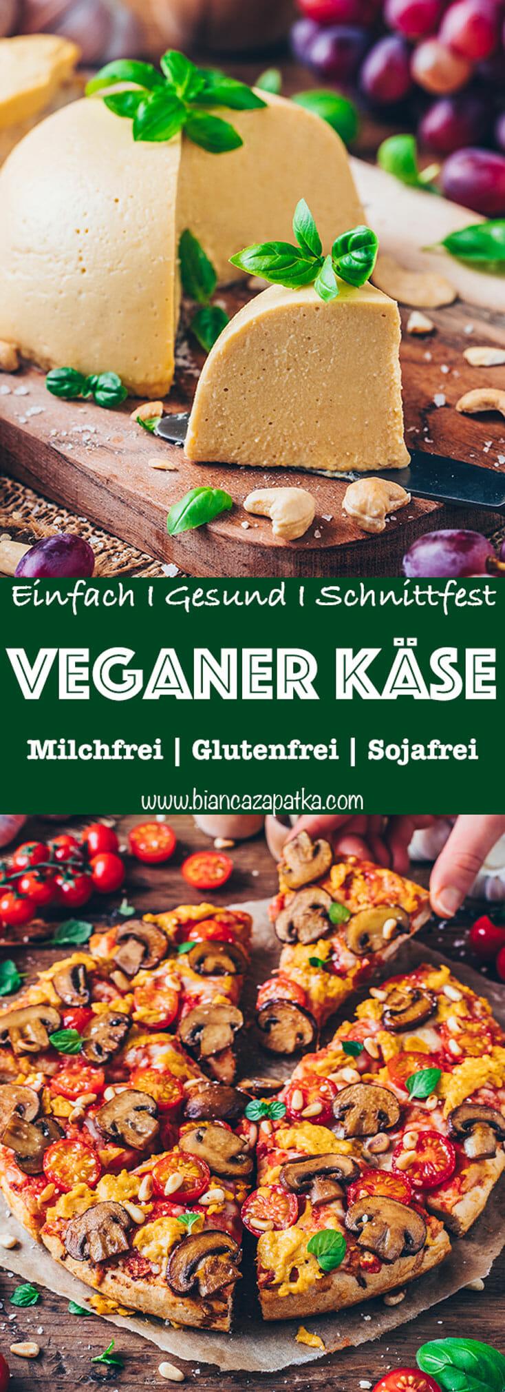 Veganer Käse Rezept (Einfach, gesund, schnittfest, zum Überbacken)