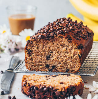 Best Vegan Banana Bread with chocolate chips