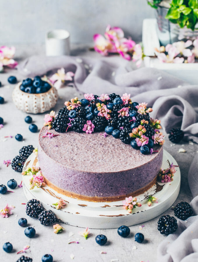 Blueberry Chia Yogurt Cake (Food photography)