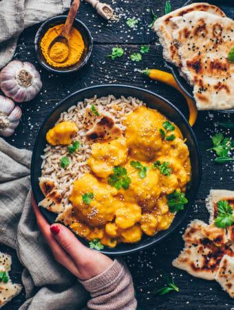 Cauliflower Korma Coconut Curry