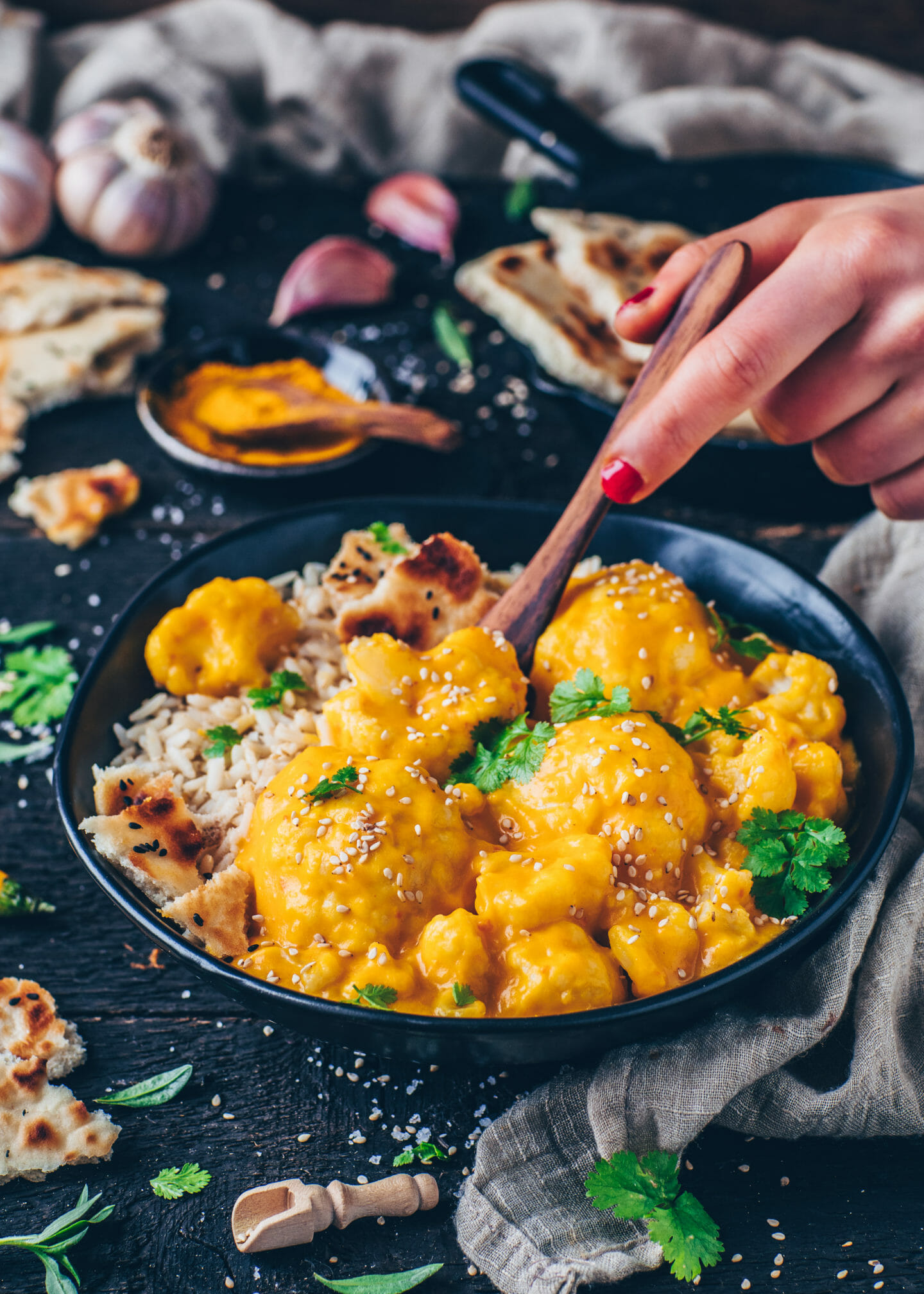 Creamy Coconut Korma Cauliflower Curry