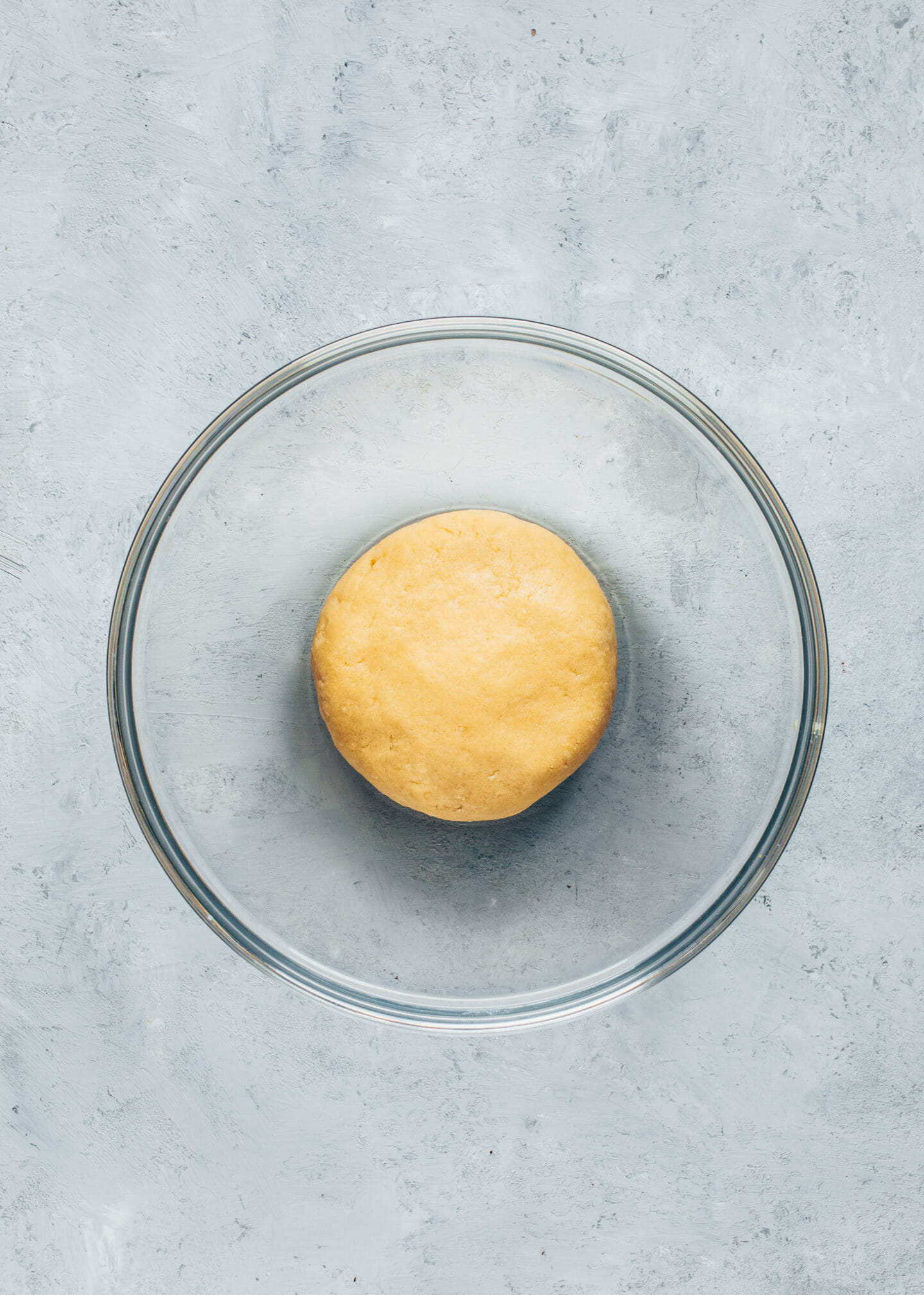 shortcrust pastry dough in a bowl