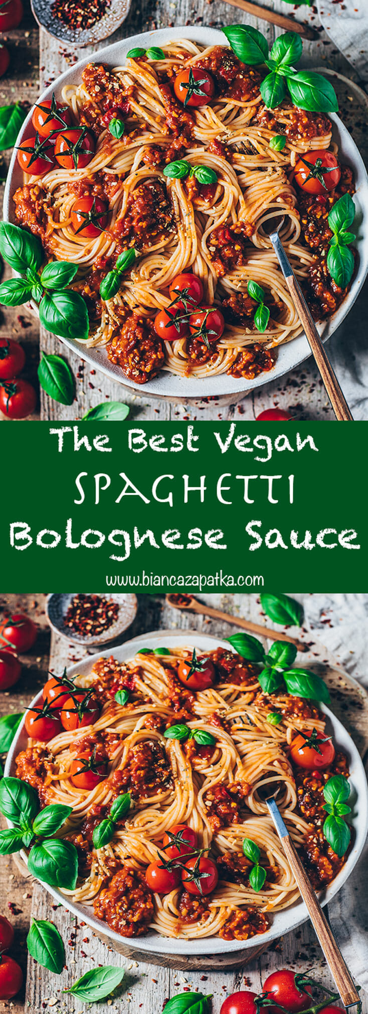 Vegan Spaghetti Bolognese Pasta Sauce