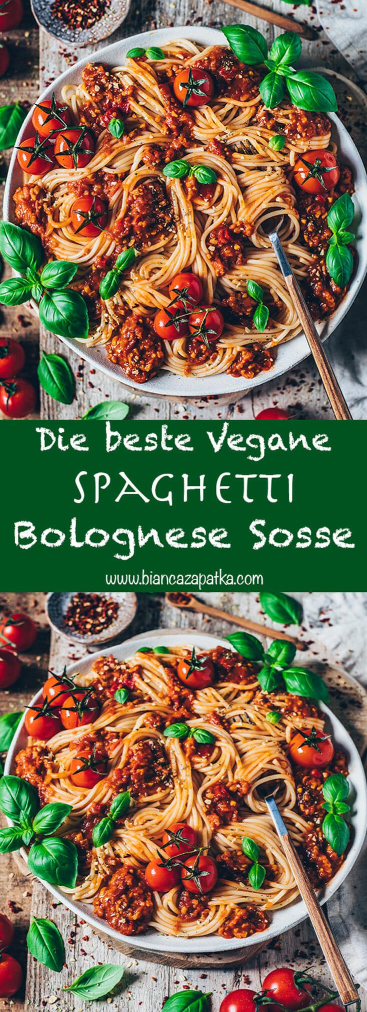 Vegane Spaghetti Bolognese Pasta Soße