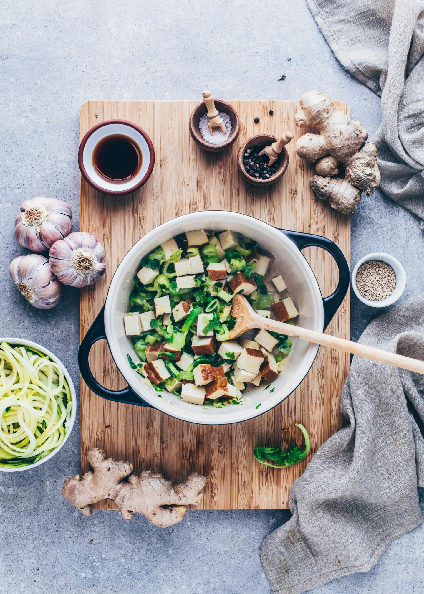 Asiatische Gemüse-Suppe Rezept