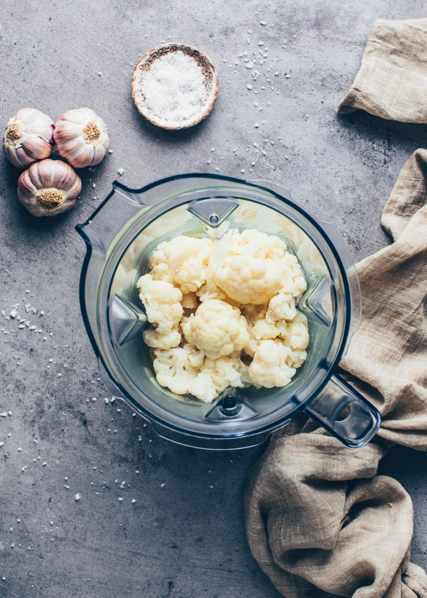 Cauliflower in a blender