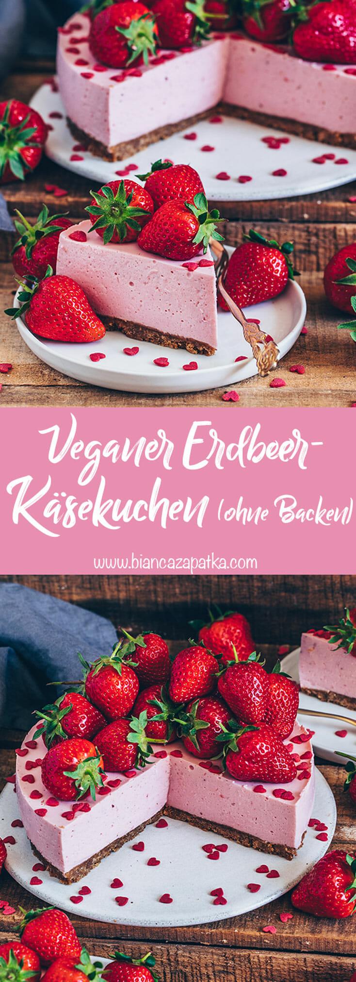 Erdbeeren-Käsekuchen (Joghurt-Torte ohne Backen)