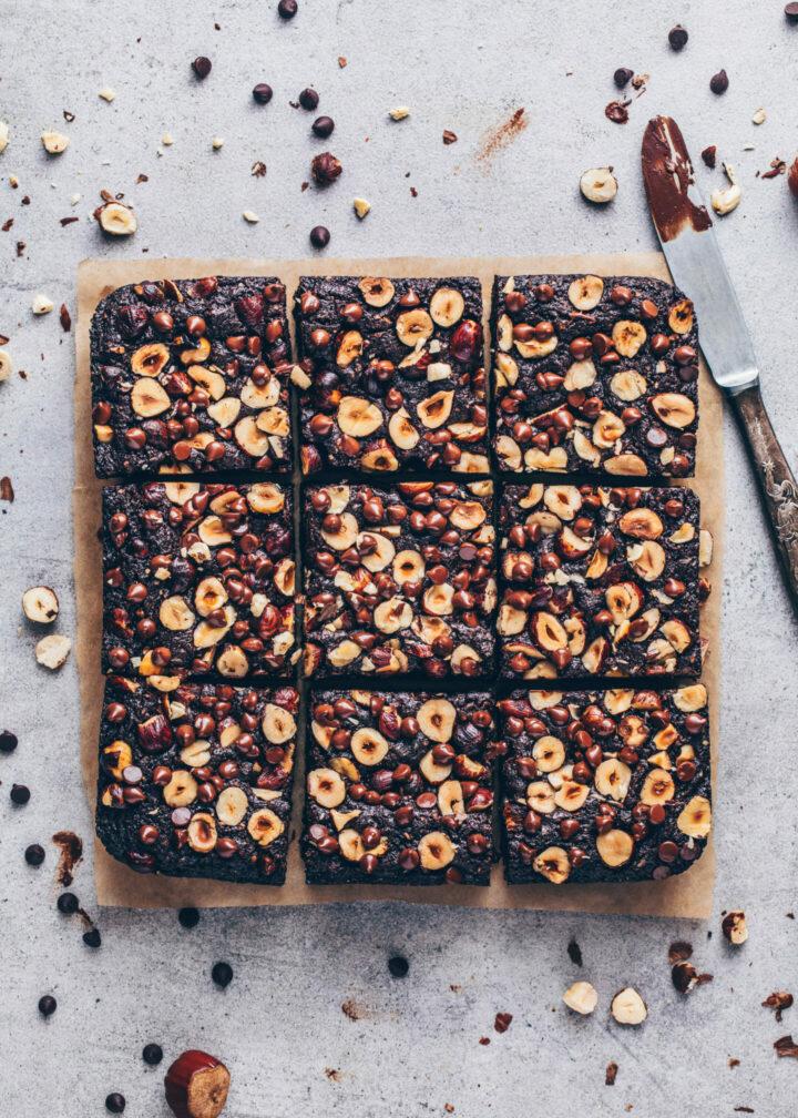 Vegane Haselnuss Brownies