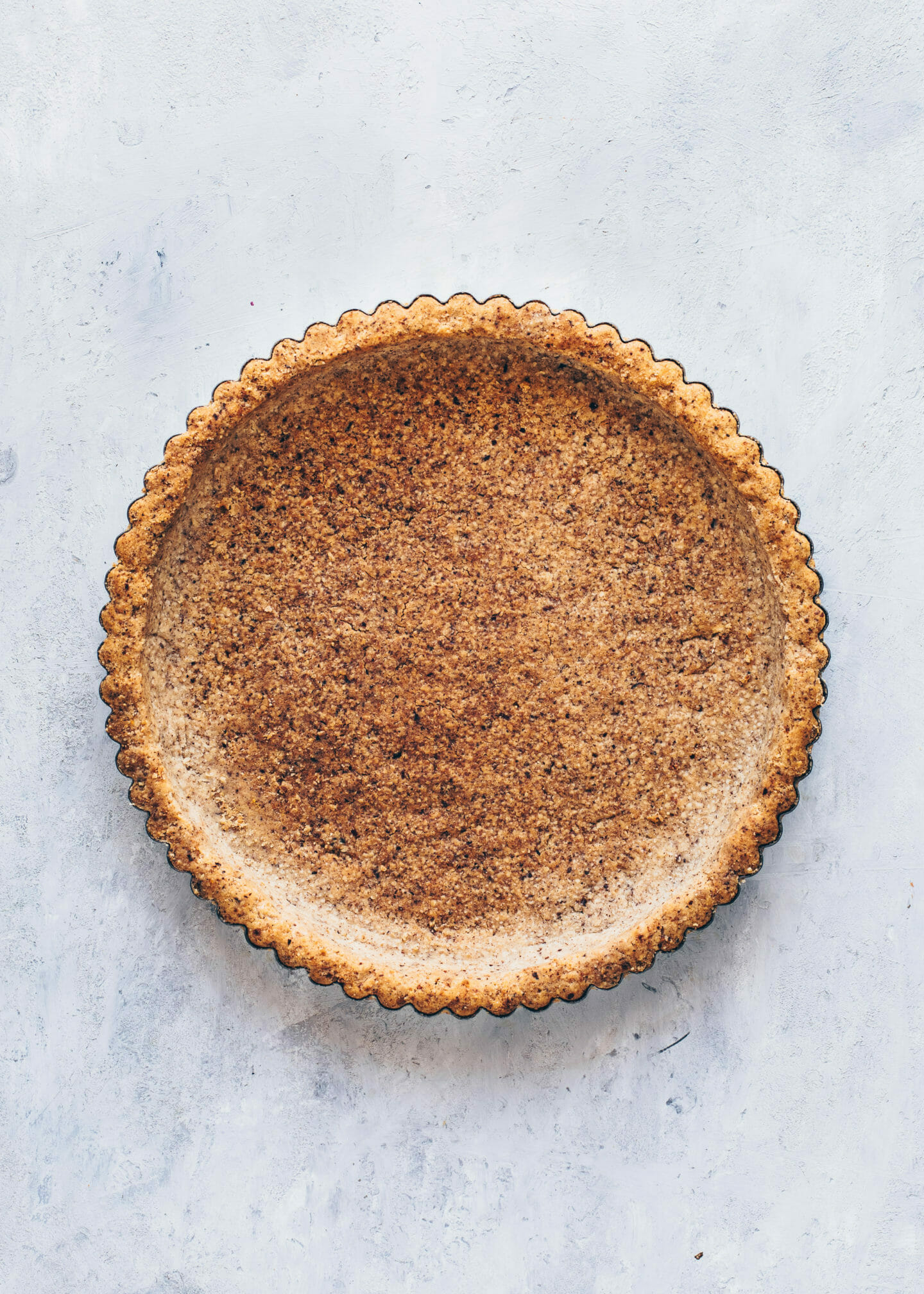 hazelnut tart shell, healthy nut cookie pie crust