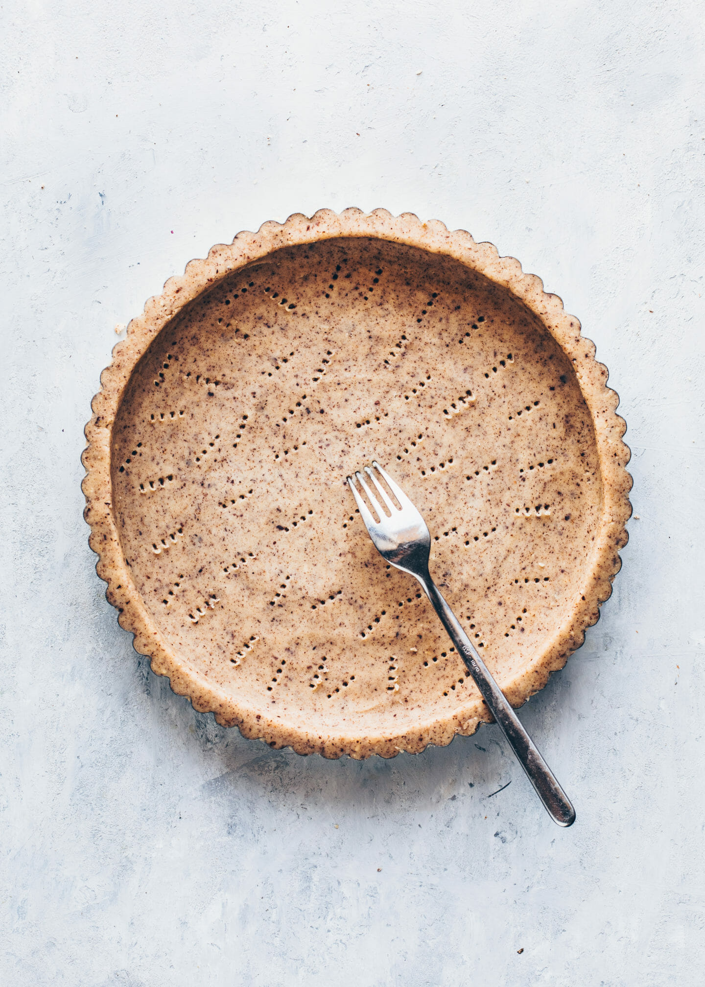 hazelnut tart shell, vegan pie crust