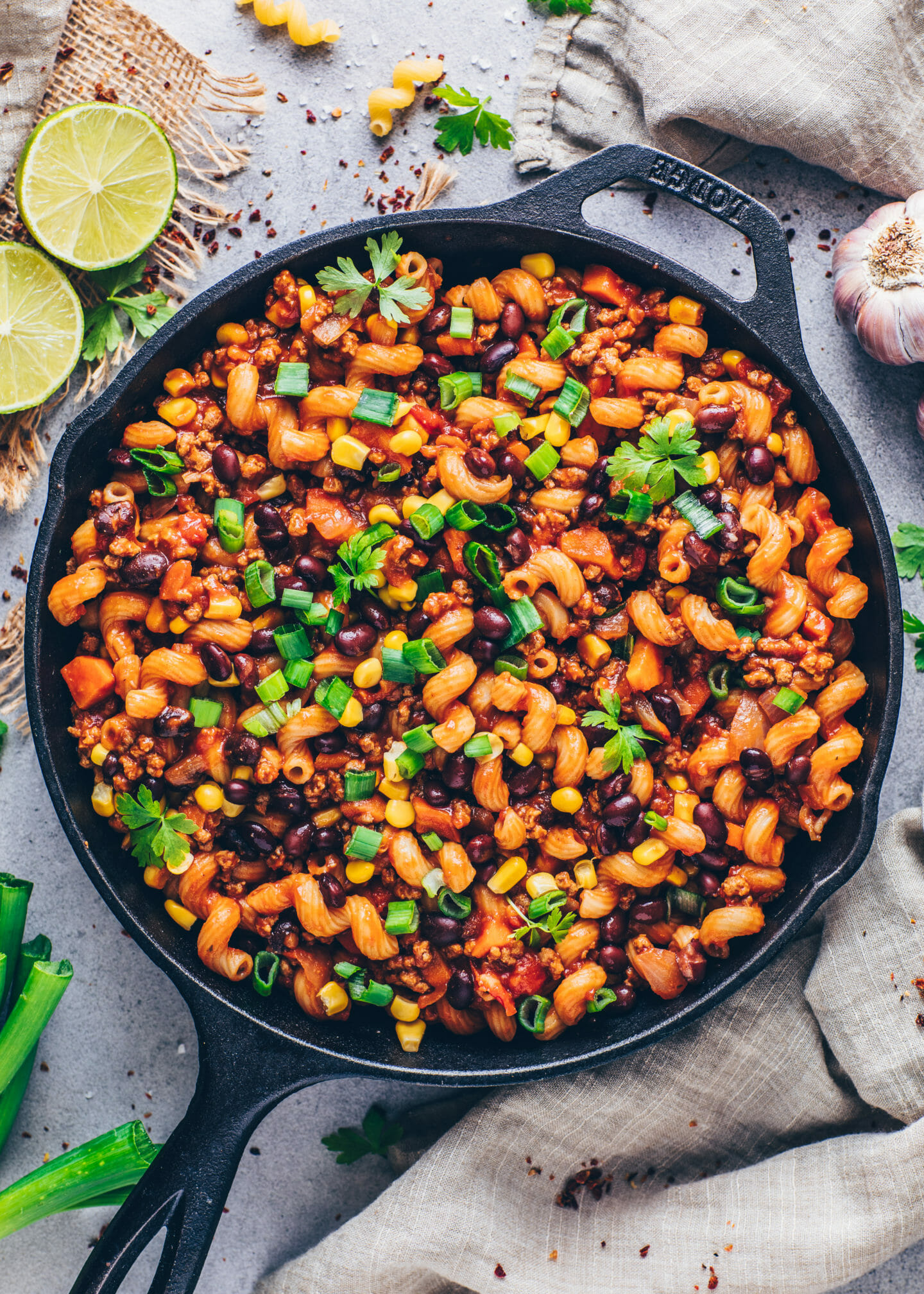 One-Pot Mexican Taco Pasta (Vegan and Easy Recipe)