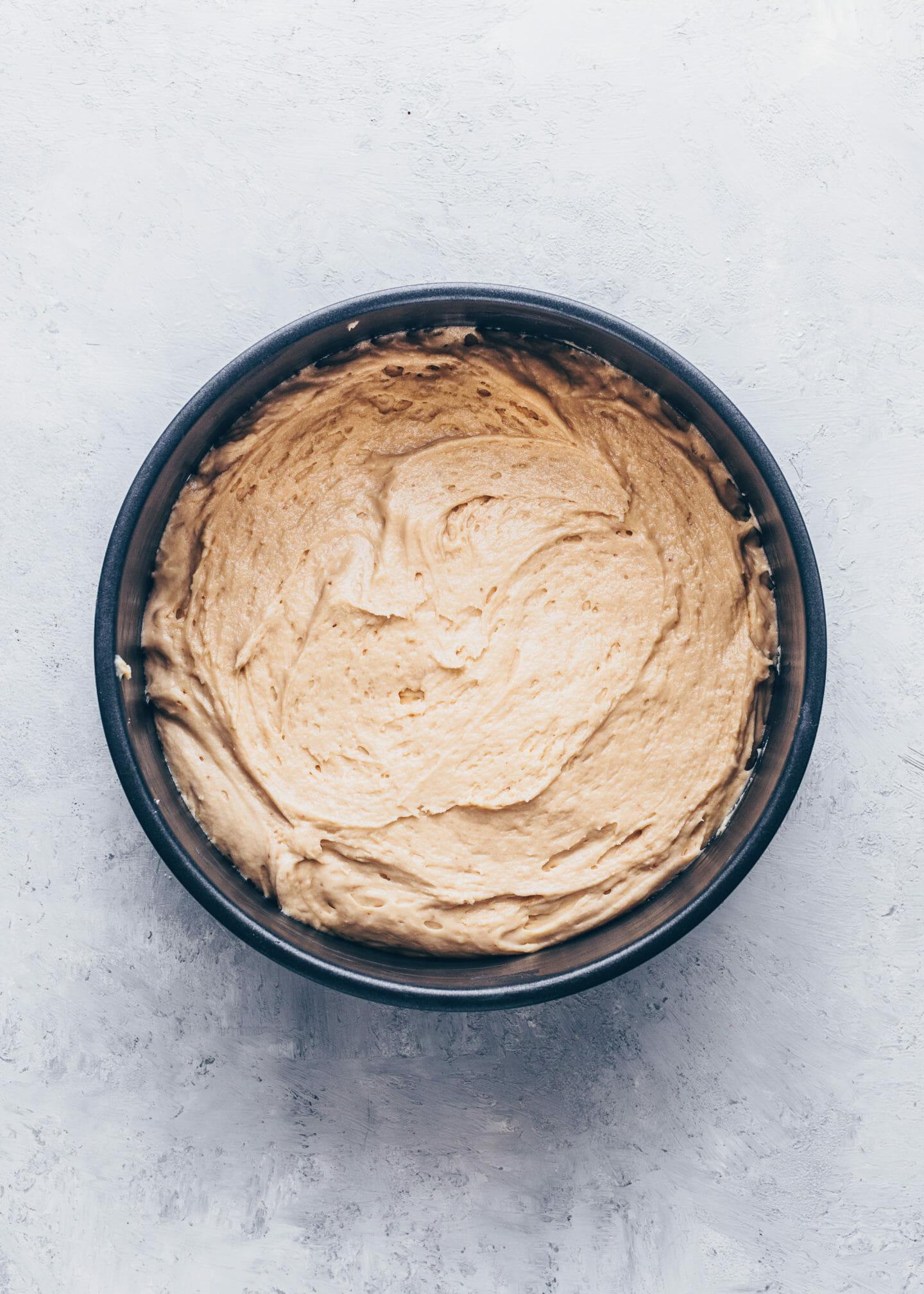 Kuchenteig in einer Springform, Rhabarber-Kuchen Rezept Anleitung